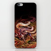 capricorn iPhone & iPod Skins featuring CAPRICORN by SOMNIVAGRIOUS