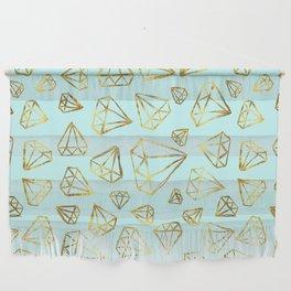 Rough Diamonds Faux Gold Mint Wall Hanging