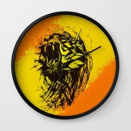 yellow tiger Wall Clock
