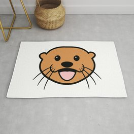Sea Otter Face Rug