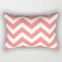 Tea rose - pink color - Zigzag Chevron Pattern Rectangular Pillow