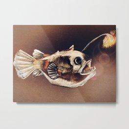 Angler Fish Light Metal Print