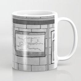 London Coffee Shop in Black and White Coffee Mug
