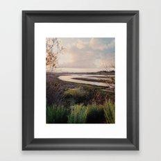 Pre-storm sunset Framed Art Print