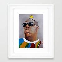 big poppa Framed Art Prints featuring Big Poppa by Rigel Art