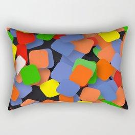wild color pieces Rectangular Pillow