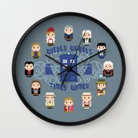 wall clock Wall Clocks featuring Doctor Who Wall Clock by Cloudsfactory
