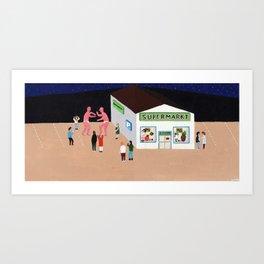 Giant Wrestle Art Print