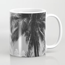 Palm Trees Black and White Photography Coffee Mug