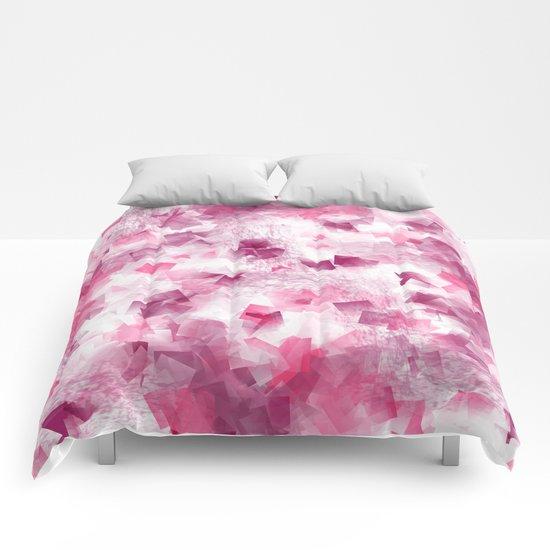 pink cubism Comforters