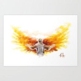 On Wings Like Eagles (Isaiah 40:31) Art Print