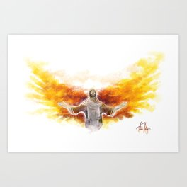 On Wings Like Eagles (Isaiah 40:31) Art Print