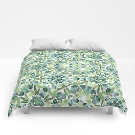 Green petal kaleidoscope  Comforters