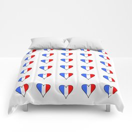 Flag of France heart- France, Français,française, French,romantic,love,gastronomy Comforters