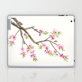 pink peach flowers Laptop & iPad Skin