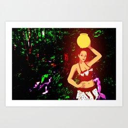 Glowing Survivor Art Print