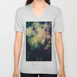 Dark ink texture Unisex V-Neck