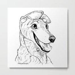 Greyhound Graphic Metal Print