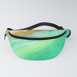 Druze green agate Fanny Pack