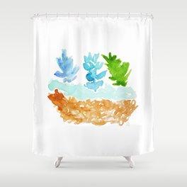 teco verde Shower Curtain