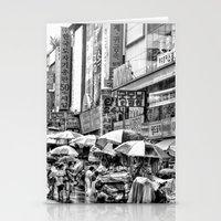korean Stationery Cards featuring Korean Rain by Anthony M. Davis