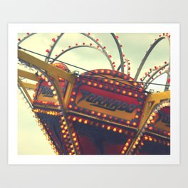 Vintage Carnival ~ The Tornado Art Print