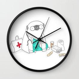 Doctor Pug Wall Clock