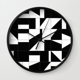 AGBW - Abstract, Geometric, Black & White Wall Clock