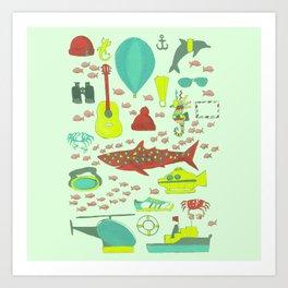 Cousteau Art Print
