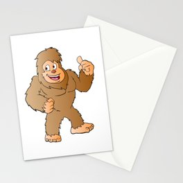 Bigfoot cartoon Stationery Cards