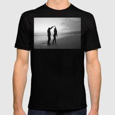 Beach // Love // Dance Mens Fitted Tee MEDIUM Black