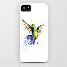 Humming Bird - Ribbons iPhone Case