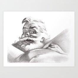 Santa is Coming Art Print