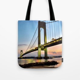Verrazano Sunset   Tote Bag