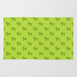 Dogs-Green Rug