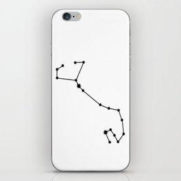 Scorpio Astrology Star Sign Minimal iPhone Skin