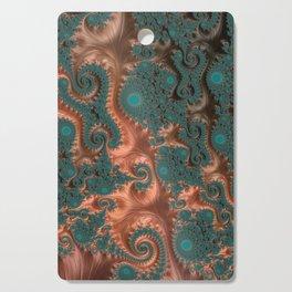 Copper Leaves - Fractal Art Cutting Board