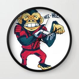 Monkey dancing Wall Clock
