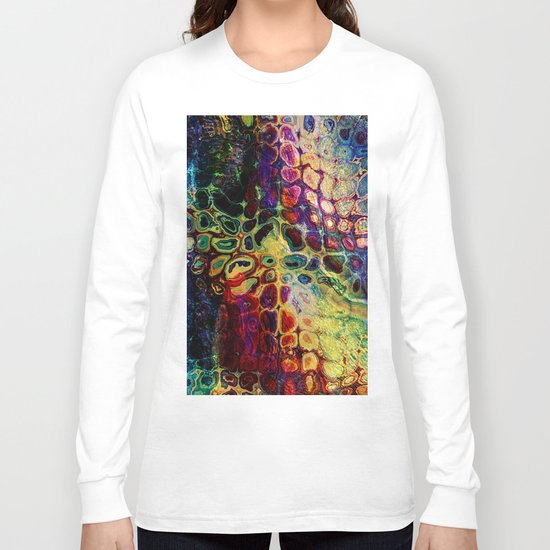colorful abstract snake skin Long Sleeve T-shirt