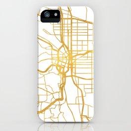 PORTLAND OREGON CITY STREET MAP ART iPhone Case