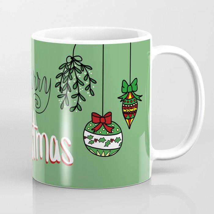 Coffee Christmas Ornaments.Merry Christmas Ornaments Coffee Mug