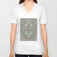 medieval V-neck T-shirts featuring Medieval Symmetry by Shute Illustration