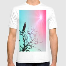 Hawk and the sun Mens Fitted Tee White MEDIUM