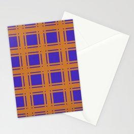 Orange-blue checkered background. Stationery Cards