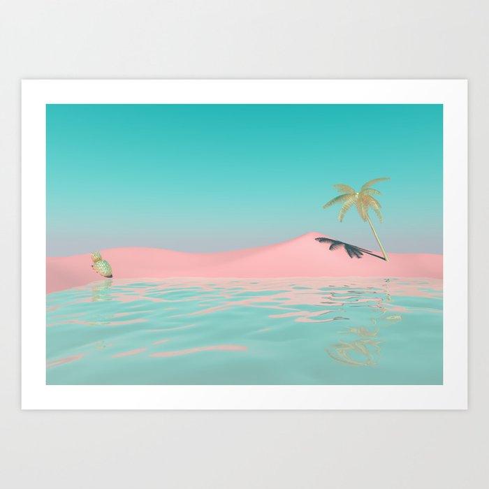 Palm Tree Oasis Kunstdrucke