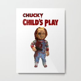 chucky childs play Metal Print