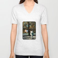 the first man under a tree Unisex V-Neck