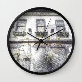 The Mayflower Pub London Snow Wall Clock