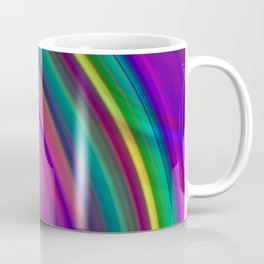 Interweaving curved semicircles with a crisp eggplant accent and all the colors of the rainbow. Coffee Mug