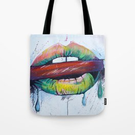 Painted Lips Tote Bag